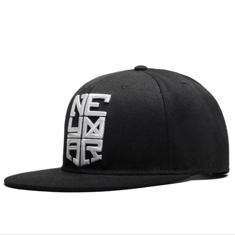 2017 New Fashion Men Women Letters Solid Black Color Patch Baseball Cap Hip Hop Caps Leather Sun Hat Snapback Hats free shopping