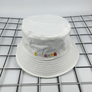 c0fb2e80186 2017 New Summer Hat Women Mens Panama Bucket Hat Eat peas Design Flat Sun  Visor Fishing Fisherman Bob Hat Chapeu Femmes Hip Hop
