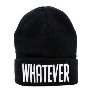 2017 New fashion Winter Black Whatever letter Beanie Hat And Snapback Men And Women Cap Knitting Wo hats for men winter hat