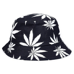 2017 Unisex Foldable Maple Leaves Printing Bucket Hat Men Floppy Cotton Fisherman Hats Bob Cap Women Summer Sun Protection Caps