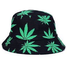 Load image into Gallery viewer, 2017 Unisex Foldable Maple Leaves Printing Bucket Hat Men Floppy Cotton Fisherman Hats Bob Cap Women Summer Sun Protection Caps