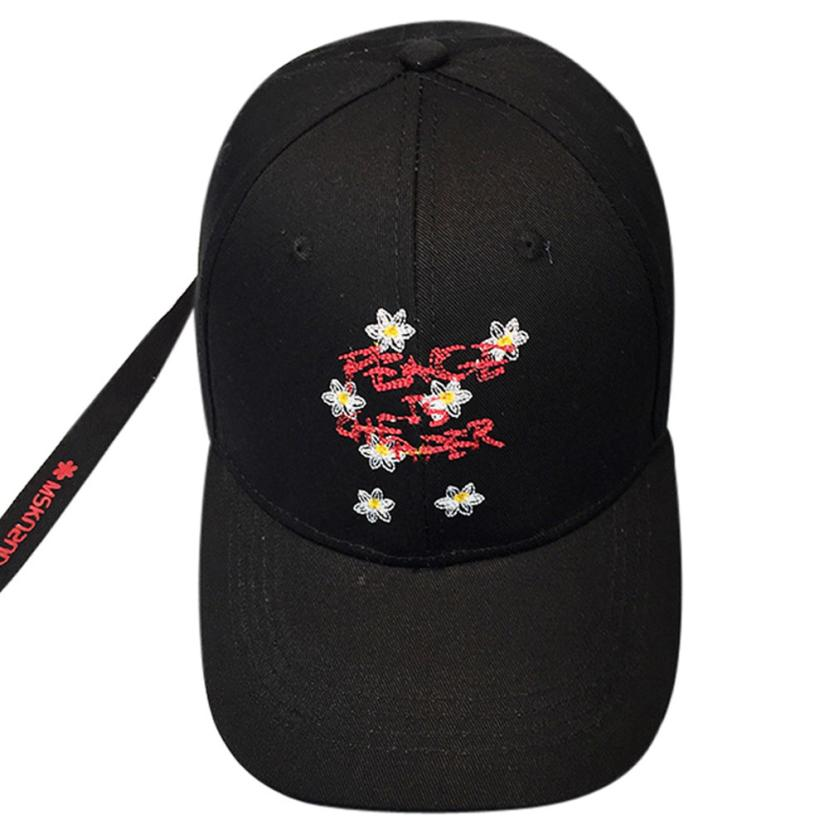 39ca40afc6d58 2017 casual hat Baseball Caps Embroidery floral Baseball Cap Unisex ...