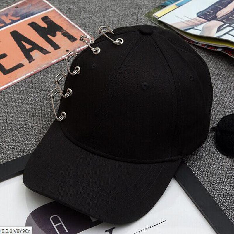 913855aff88 2017 new GD summer Personality Pin Baseball cap Kpop Women Men Curved –  oePPeo - Master of Caps   Hats
