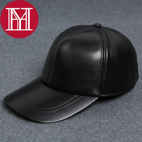 2017 unisex sheepkin leather baseball hat 100% natural real sheepskin leather cap high quality adjustable outdoor sports hat