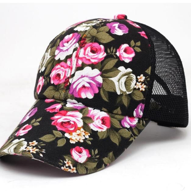 2018 Baseball cap woman summer flowers lady Boys Girls Snapback Hip ... 62edc71f8f4