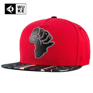2018 Brand New Red Hip Hop Hat For Man Women Coloured Brim Africa Map Baseball Caps Funny Co Casual Basic Snapback Canvas Hat
