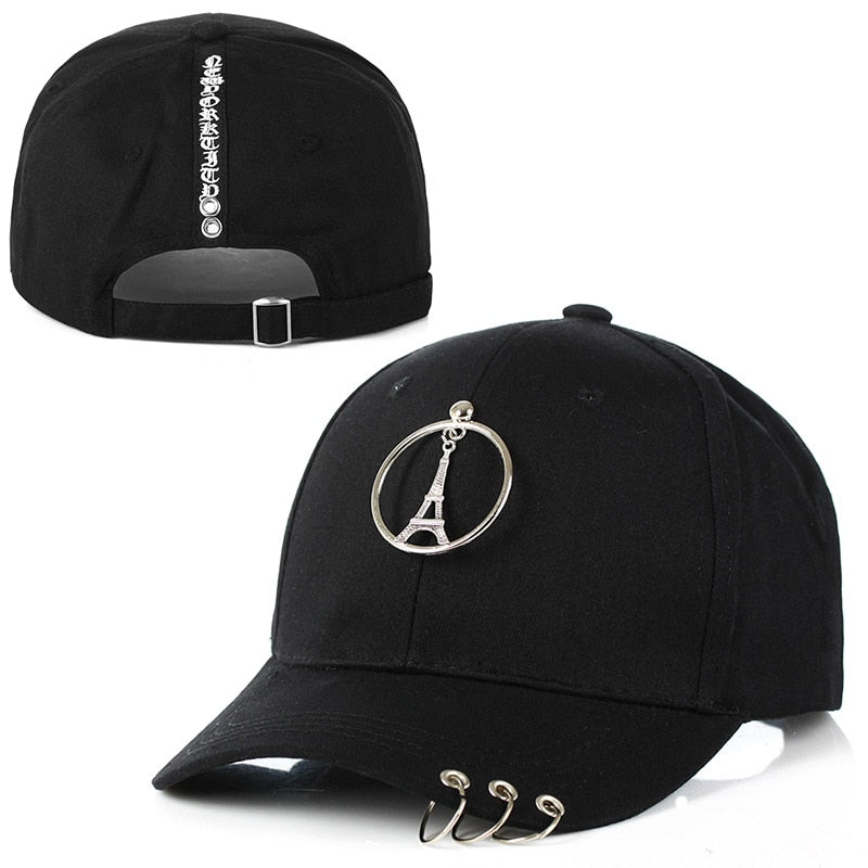 3aa4f5f1a 2018 Caps with rings men black baseball caps dad hats gifts blank color  women fashion white pink caps tower icon cap keys rings