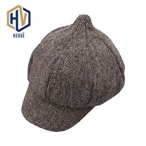 377c0fa1d 2018 Classic Vintage Striped Beret Hat Autu Winter Men Hats Berets British  Western Style Cot Advanced Flat Ivy Cap NS59
