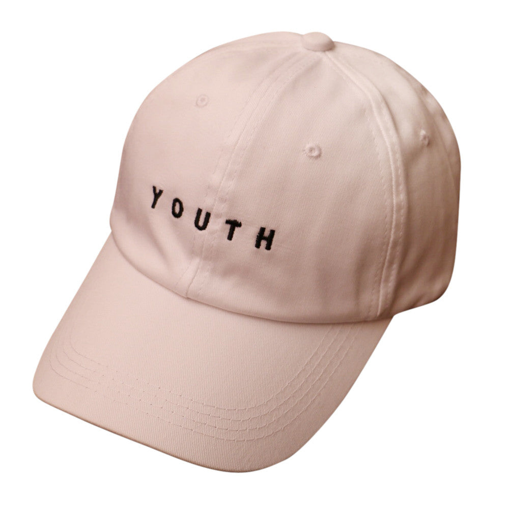 2018 Embroidery Cotton Baseball Cap Boys Girls Casual Snapback Hip Hop Flat Hat in Beige and Pink High Qyality Hot Summer