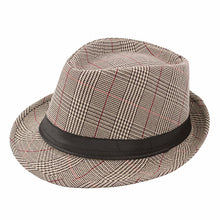 Load image into Gallery viewer, 2020 England Retro Men's Fedoras Top Jazz Plaid Hat Spring Summer Autumn Bowler Hats Cap Classic Version Hats Casual Panaman Hat