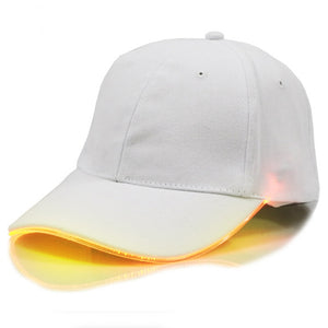 2020 Fashion LED Lighting Adjustable Baseball Cap Sun Hat Men Women Club Party Baseball Hat Sports Caps Cotton Unisex Solid Caps