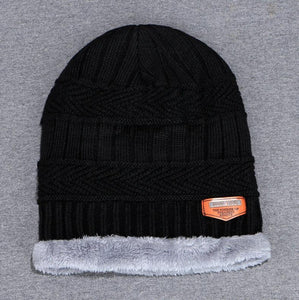 d7936f2892d66 2018 Fashion Men s Winter Knitted Hat Soft Fluff Warm Beanies Thick and  Bonnet Skullies Beanies Solid Caps Cotton Men s hat