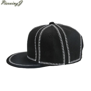 2018 Fashion Style 56-60cm Unisex Personalised Cap Black and Grey Classic Snapback Baseball Hat Plain Blank Adjustable