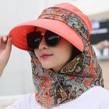 Load image into Gallery viewer, 2018 Fashion UV Sun Hat Summer Sun Hats For Women Straw Hat Girls Beach Organza Cap Visors Caps Multipurpose Foldable Floppy Hat