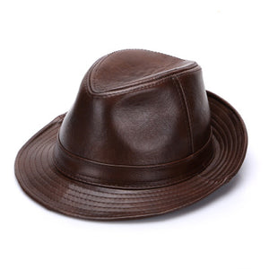 2018 Hot Pin Men Real Genuine Cowhide Leather Hats Fashion New Style Real  Natural Leather Cap f1f0a76ca2bb