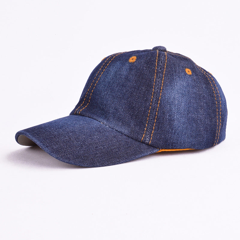 2020 Kids Denim Baseball Cap Pure Color Snapback Hats Jean Boys Girls Sun Hats Summer Caps casquette for 3-8years old children