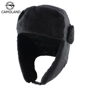 5cbe39c3495 2018 Men Women Winter Hat with Ears Earflap Bomber Hats Ushanka Caps  Russian Trapper Hat Male
