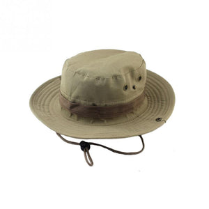 2020 Military Panama Safari Boonie Sun Hats Cap Summer Men Women Camouflage Bucket Hat With String Fisherman Cap