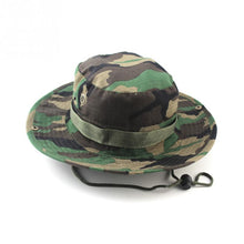 Load image into Gallery viewer, 2020 Military Panama Safari Boonie Sun Hats Cap Summer Men Women Camouflage Bucket Hat With String Fisherman Cap