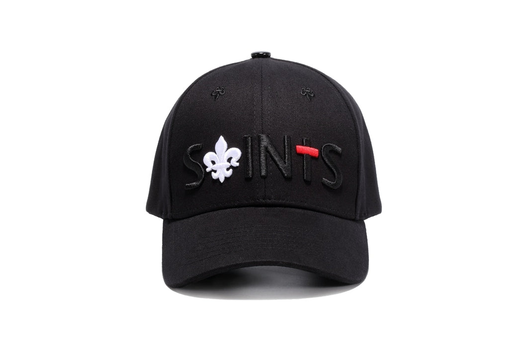 2018 NEW  Gothic Punk Baseball Cap Saint Embroidery Black Sun Hat For Men Women Fashion Cot Cap Victoria Beyonce Ketty Style