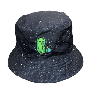 2018 New Alien Bucket Hats Black Fisherman Hat Man Woman High Quality  Fashion Starry Sky Popular 55f8c27f787
