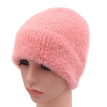Load image into Gallery viewer, 2018 New Arrival Winter Imitation Mink Fur Women Beanies Hats Knitted Lady Skullies Caps With Real Fox Fur Ball Female Warm Hat