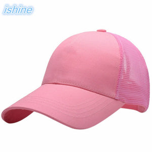 2020 New Arrivals Black Ponytail Baseball Cap White Women Messy Bun Baseball Hat Snapback Khaki