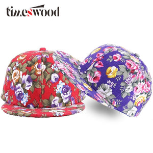 47ecd7f13f0 2018 New Casual Hip Hop Snapbacks Hat Flower Print Rose Floral Baseball Caps  For Women Pretty Street Dance Hip-Hop Hats Girls