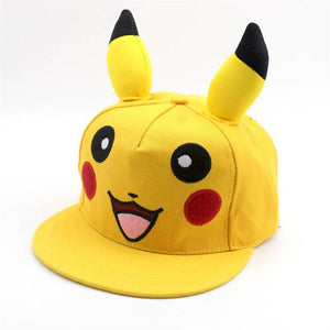2020 New Fashion Anime Cartoon Pokemon Pikachu Baseball Caps Parent-Child Adult Children Hip Hop Hats Outdoor Shade Cap