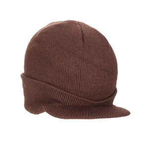 2020 New Fashion Autumn Winter Warm Men Women Knitted Beanie with Brim Peaked Cap Boys Girls Casual Army Visor Hats Gifts