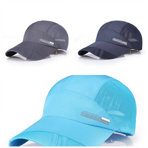 2018 New Fashion Hats For Men Women Adjustable 53-58cm Outdoor Sport Running Peaked Sun Hat Breathable Mesh Hat Baseball Caps