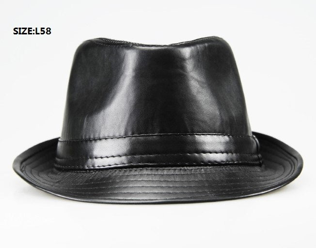 2018 New Limited Cappelli Cappello Chapeau Homme  Fashion Men Pu Leather Fedora Hats Vintage Jazz Hat Hip Hop Trilby Cs33