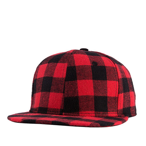 2020 New Straight Brim Hip Hop Snapback Caps Men Women Summer Winter Snapback Baseball Hat Red And Black Plaid Bones 2017 2016