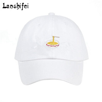 2020 New Style Adjustable Instant Noodles Embroidery Cotton Baseball Hat Unisex Baseball Cap Casual Dad Hats Girl Snapback Cap