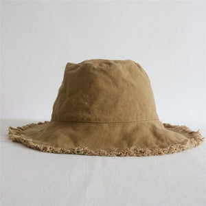 2018 New Summer Washed Denim Foldable Sun Hat Unisex Fashion Tassel Floppy Cap Wide Brim Beach Bucket Hats Men Beggars Hat