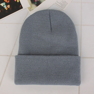 08a738e3524 2018 New Winter Hats Unisex Women s Cotton Solid Warm Hot Sale HIP HOP  Knitted Hat Female
