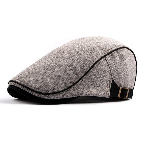 2018 New Winter Warm Wo Blend Tweed Newsboy Cap Men Solid Color Cabbie Boina Flat Ivy Hat