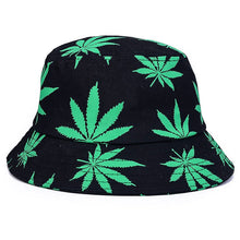 Load image into Gallery viewer, 2018 New Women Men Vogue Hemp Leaf Design Basin Caps Maple Leaves Brooklyn Bucket Hat Fisherman Hat Leisure Hats