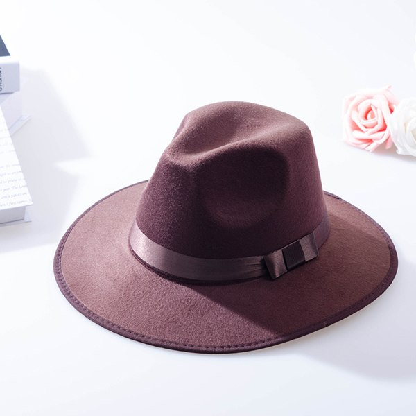 b74c09f0 ... Load image into Gallery viewer, 2018 New Women Winter Wide Brim Fedoras  Hats Polyester Wo ...