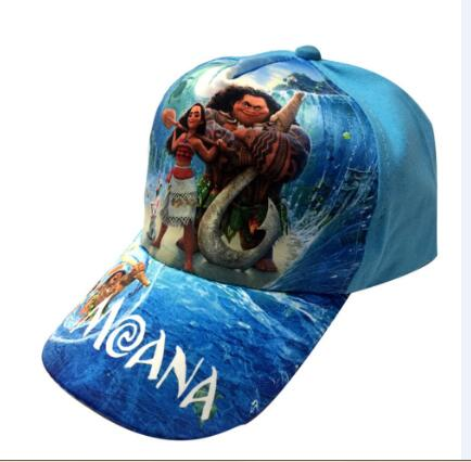 2018 New kids cartoon Moana Trolls  cosplay Caps girl Baseball hat Co Boy Hip-hop trolls  cosplay accessary