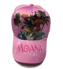 Load image into Gallery viewer, 2018 New kids cartoon Moana Trolls  cosplay Caps girl Baseball hat Co Boy Hip-hop trolls  cosplay accessary