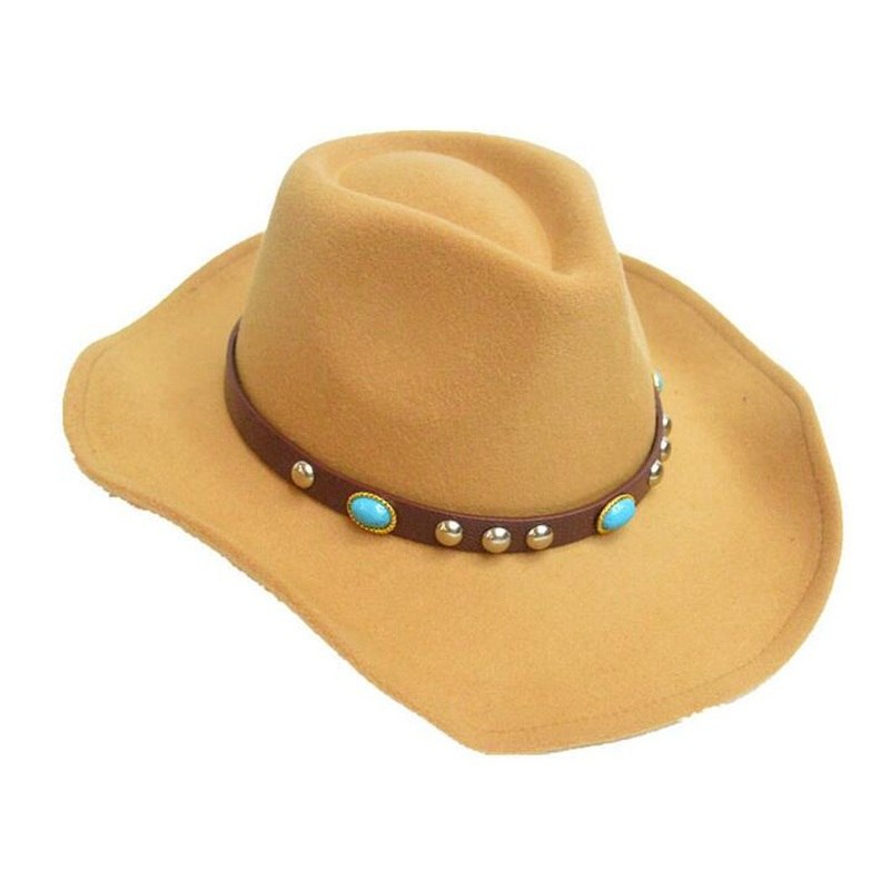 b760c89f ... Load image into Gallery viewer, 100% Wo Vintage Womem Men Western  Cowboy Hat With ...