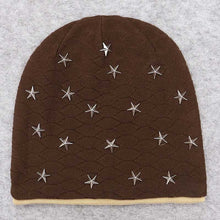 Load image into Gallery viewer, 2020 Solid Unisex Metal Star Kullies Beanies Autumn Winter Acrylic Soft Warm Knitted Hat Men Women Skull Cap Hats Gorro Ski Caps