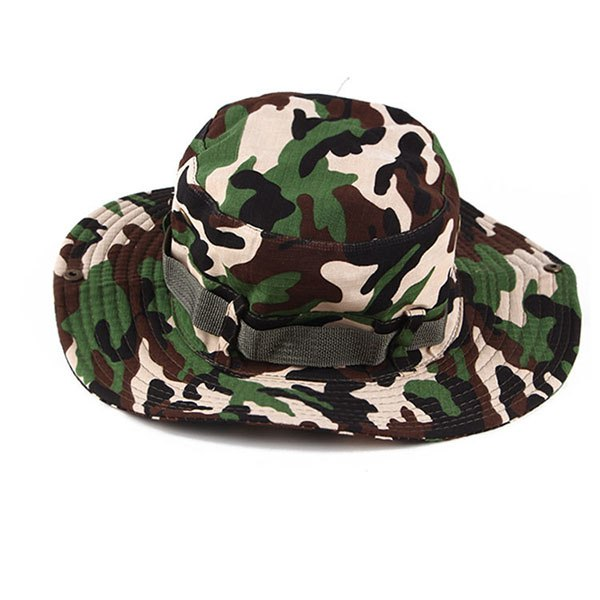 0b8aa719 ... Load image into Gallery viewer, 2018 Spring Summer Camouflage Bucket Hats  Men Women UV Protection ...