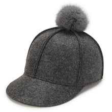 Load image into Gallery viewer, 2020 Winter Cap For Women Pure Color Baseball Cap Woollen Baseball Hats Faux Fur Pompom Ball Cap Fitted Casual Snapback Hat
