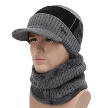 Load image into Gallery viewer, 2018 Winter Hats For Men Skullies Beanie Hat Winter Cap Men Women Wo Scarf Caps Set Balaclava Mask Gorras Bonnet Knitted Hat