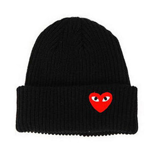 2018 Winter woman warm hats Heart Eyes Cartoon Label Beanies Knit Hat Toucas Bonnet Hats man hat Crochet Cap Skullies Gorros
