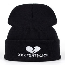 Load image into Gallery viewer, 2018 new Brand XXXTentacion Pattern Hat Women Knitted Winter Hat Fashion Skullies Beanies men Wo Winter Cap Thicker Caps