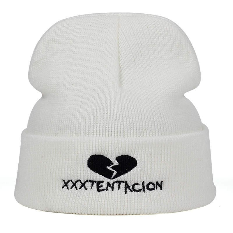 2018 new Brand XXXTentacion Pattern Hat Women Knitted Winter Hat Fashion Skullies Beanies men Wo Winter Cap Thicker Caps