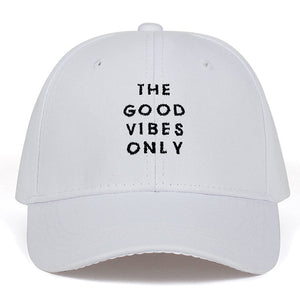 2018 new English letter embroidery baseball cap THE GOOD VIBES ONLY casquette gorras dad hat snapback bone
